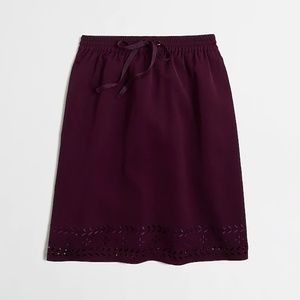 J. Crew laser-cut drawstring skirt